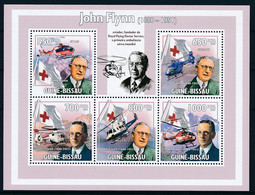 D - [401153]TB//**/Mnh-Guinée-Bissau 2009 - John Flynn, Fondateur Du Royal Flying Doctor Service, Hélicoptère, Croix-Rou - Croce Rossa