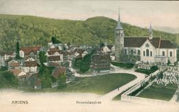 Kriens LU Lucerne Luzern Suisse Schweiz Svizzera Panorama Vue Générale Generalansicht Carte Précurseur 1905 - LU Lucerne