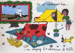 *CPM - 81 - LESCURE D'ALBI - On Est Vachement Bien Au Camping - Lescure