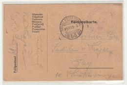 WWI Feldpost, Zapovjeništvo Kr. Ug. Varažd. 10. Dom. Hus. Pukovnije Posted 1916 FP68 To Senj B210220 - Croatia