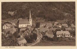 CARTE POSTALE ORIGINALE ANCIENNE : SEWEN VUE AERIENNE HAUT RHIN (68) - Autres Communes