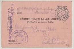 WWI Feldpost, Tábori Postai Levelezőlap Dopisnica Posted 1915 FP69 To Zagreb B210220 - Croatia