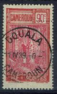 Cameroun Français, 90c, Récolte Du Caoutchouc, 1925, Obl, TB Joli Cachet De Douala - Oblitérés
