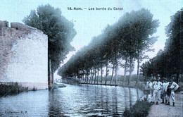 Ham Somme - Château 16 Ham Les Bords Du Canal (couleur Toilée) - Ham