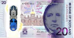 UNITED KINGDOM SCOTLAND BANK 20 POUNDS WOMAN FRONT BRIDGE BACK DATED 11-06-2019 UNC PNew POLYMER READ DESCRIPTION !! - 5 Pounds