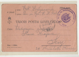 WWI Feldpost, Kr. Ug. 42. Domobranska Pješačka Divizija Tábori Postai Levelezőlap Posted 1915 FP68 To Senj B210220 - Croatia
