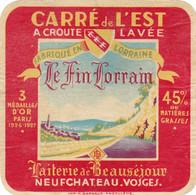 ETIQUETTE FROMAGE  - CARRE DE L'EST -  LE FIN LORRAIN -   VOSGES  88 - Formaggio