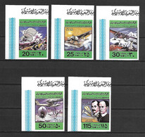 Libya 1978 Airplanes - The 75th Anniversary Of First Powered Flight IMPERFORATE MNH - Libia