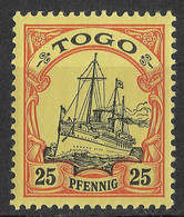 Togo, German Colony 1900, 25 Pf. Mi 11 /Sc 11. MLH - Colonia: Togo