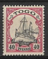 Togo, German Colony 1900, 40 Pf. Mi 13 /Sc 13. MLH - Colonia: Togo