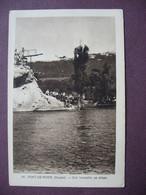 CPA  25 PONT DE ROIDE Son Tremplin Sa Plage RARE PLAN ? ANIMEE 1938 Canton VALENTIGNEY - Other Municipalities