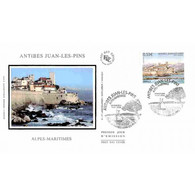 FDC Soie - Antibes Juan-les-Pins (Alpes Maritimes) - Oblit 15/7/06 - 2000-2009