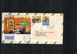 Brazil 1988 Interesting Airmail Letter - Cartas