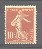 0ob  0514  -  France  :  Yv  134d  *   Type II - 1906-38 Säerin, Untergrund Glatt
