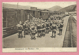 Vogesen - 67 - ROTHAU - Vallée De La BRUCHE - Bahnhof - Gare - Abtransport - Soldats Allemands - Feldpost - Guerre 14/18 - Rothau