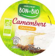 ETIQUETTE FROMAGE  -   LE CAMEMBERT -  BON & BIO  -  ALDI - Formaggio