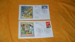 LOT 2 ENVELOPPES FDC DE 1997../ MEILLEURS VOEUX...CACHETS PARIS + TIMBRE - 1990-1999