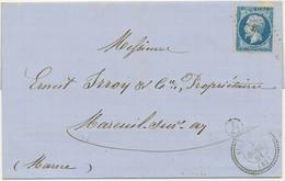FRANKREICH 1861 Kaiser Napoleon III 20 C. Blau Type II, ABART Ecklinie Gebrochen - Autres