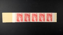 Carnet 1972 C1a Gomme Mate Type Sabine  Conf Sans N° Carnet OUVERT Bon Etat 10% De La Valeur Catalogue - Definitives