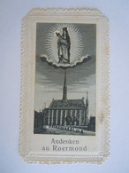 Image Pieuse Santini Devotieprentje Marie Maria O. L. Vrouw In 't Zand Andenken An Roermond Gebet 5 X 8,8 Cm - Imágenes Religiosas