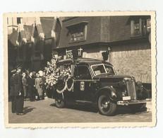 Photographie Corbillard Hearse Lijkwagen Cercueil Coffin Casket Kist Vintage Photo Véritable #24 - Personas Anónimos