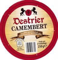 ETIQUETTE FROMAGE  -   CAMEMBERT  -  DESTRIER -  ALDI -  Fab En Normandie - Formaggio