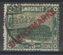 Sarre - Service - YT 13 Oblitéré - 1922-24 - Usati