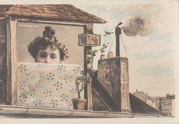 CPA PHOTOMONTAGE FEMME Artiste  KOHLINSKA   Reutlinger   Fenêtre Sous Les Toits - Femmes