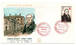 Réunion-1964-FDC -Croix-Rouge (histoire--Médecin De Napoléon)--tp CORVISART- Cachet  SAINT DENIS- 97 - Brieven En Documenten
