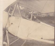 Photo Ancienne : Aviation : Avion Avec Pilote Et éléve : 6,5cm X 5,5cm - Luftfahrt