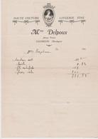 DORDOGNE: Mme DELPOUX, Haute Couture, Lingerie Fine Av Pasteur à Excideuil / Fact. De 1940 - Old Professions