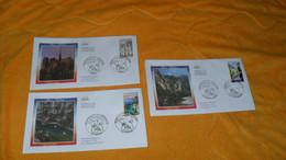 LOT 3 ENVELOPPES FDC DE 2004../ PORTRAITS DE REGIONS...LES GORGES DU TARN, NOTRE DAME DE PARIS, LES CALANQUES DE CASSIS. - 2000-2009