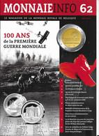 Le Magazine De La Monnaie Royale De Belgique  Nos 62   Mai 2014 - French