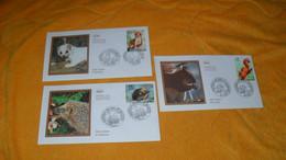 LOT 3 ENVELOPPES FDC DE 2001../ SERIE NATURE, L'ECUREUIL, L'HERMINE, LE HERISSON...CACHETS PARIS + TIMBRE - 2000-2009
