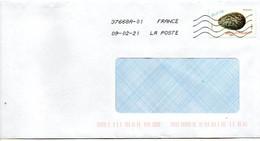 """2021--tp Adhésif """" Oeuf De Corneille Noire """"  Seul Sur Lettre ..................à Saisir - 1961-...."""