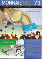 Le Magazine De La Monnaie Royale De Belgique  Nos 73 Septembre 2017 - French