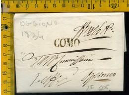 Piego Con Testo Como Per Oggiono Lecco - 1. ...-1850 Prephilately