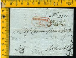 Piego Con Testo Como Per Introbio Lecco - 1. ...-1850 Prephilately