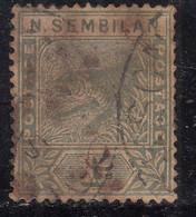 Negri Sembilan 1891 Used, Tiger,  Malaya / Malaysia - Negri Sembilan