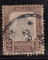 Trengganu 5c Used 1910, Malaya / Malaysia - Trengganu