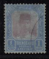 Trengganu $1.00 Used 1921 /1929, Malaya / Malaysia - Trengganu