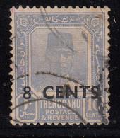 Trengganu Surchege Used 8c On 10c 1941 Malaya / Malaysia - Trengganu