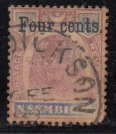 Negri Sembilan 1898 Used, 4c On 8c SG19 (Green Surcharge) Tiger,  Malaya / Malaysia, As Scan - Negri Sembilan