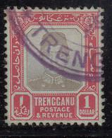 Trengganu $1.00 Used 1910, Malaya / Malaysia - Trengganu