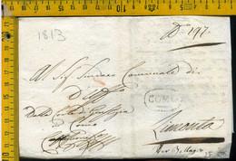 Piego Con Testo Como Per Bellagio Lecco - 1. ...-1850 Prephilately