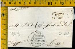 Piego Con Testo Canzo Como Per Lecco - 1. ...-1850 Prephilately