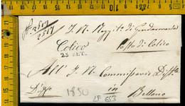 Piego Con Testo Colico Como Per Bellano Lecco - 1. ...-1850 Prephilately