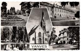 CPSM PF 92 - VANVES (Hauts De Seine) - Multivues : Le Parc, Le Lycée, L'Eglise, La Mairie - Vanves