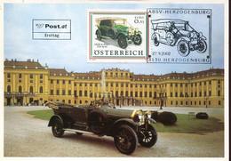 62345 Austria, Maximum 2002,  Oldtimer Autos, Graf & Stift Typ 40/45  Of 1914  Auto Car - Cartes-Maximum (CM)