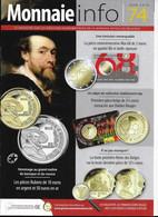 Le Magazine De La Monnaie Royale De Belgique  Nos 74  Juin 2018 - French